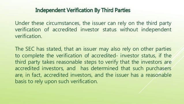 accredited investor verification Initial Coin Offerings, ICOs, TGEs and Accredited Investor Verification